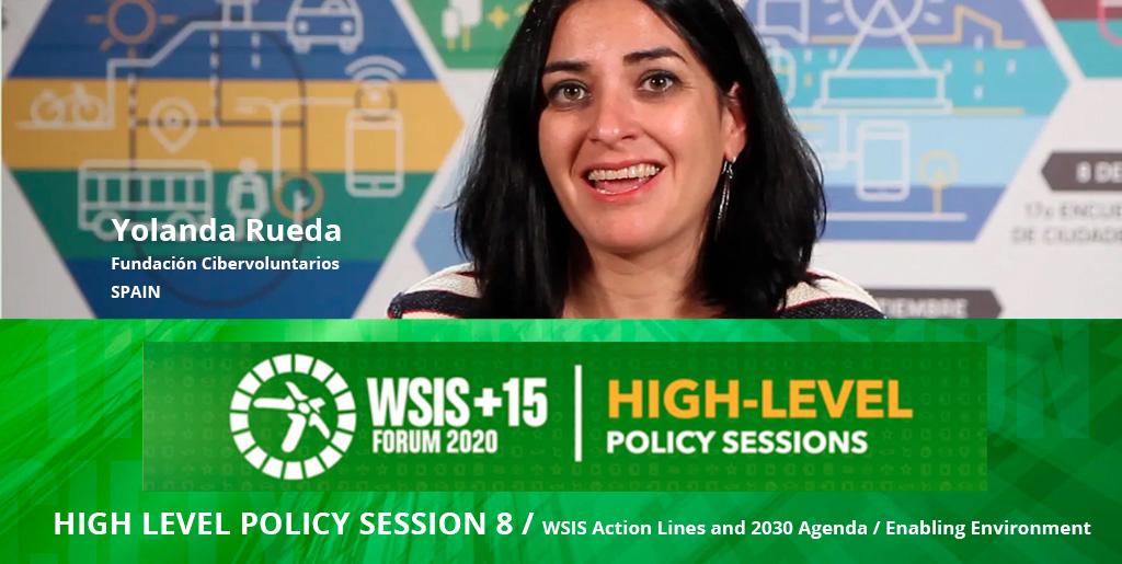 Participamos en el Panel de Alto Nivel de la WSIS 2020: Creando entornos propicios para alcanzar la Agenda 2030
