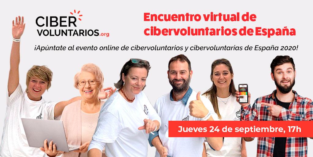 Celebramos el I encuentro virtual de Cibervoluntarios de España