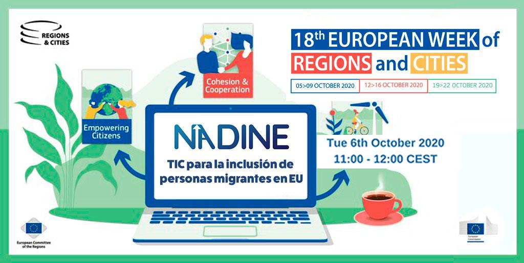 El Proyecto NADINE en la Semana Europea de regiones y ciudades: TIC para la inclusión de personas migrantes