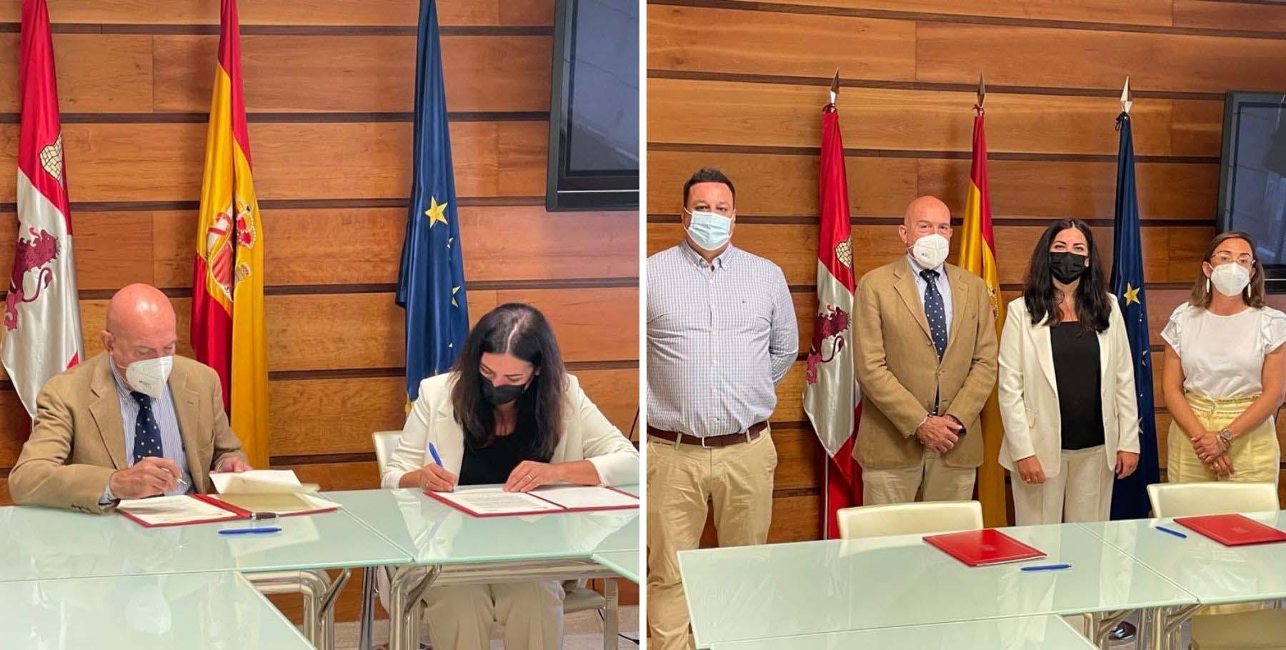 La Junta de Castilla y León firma un convenio con la Fundación Cibervoluntarios